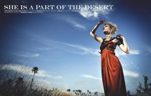 SHE IS A PART OF THE DESERT